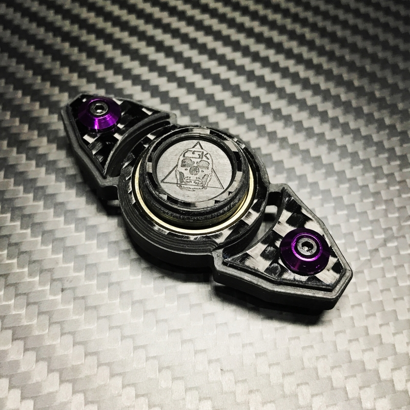 Carbon Skull Double Spinner