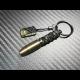 Carbon Skull Bullet keychain