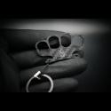 Carbon Skull Keychain